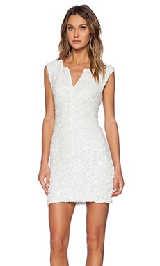 RACHEL ZOE Pietro Sheath Dress in Winter White