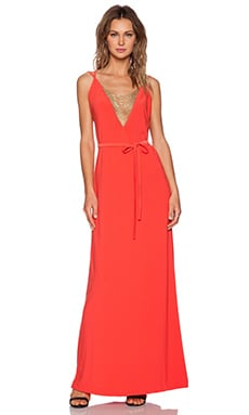RACHEL ZOE Fille Maxi Dress in Red Orange