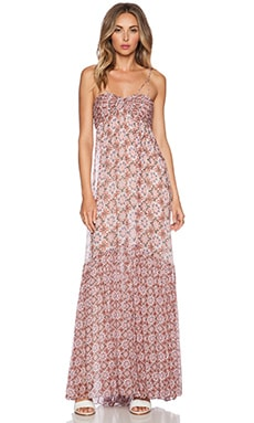 RACHEL ZOE Miriel Empire Maxi Dress in Terra Cotta