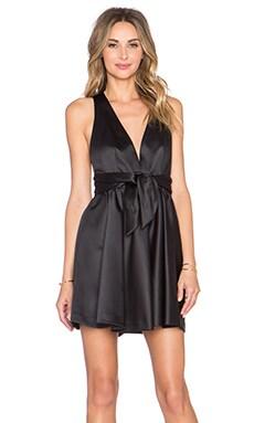 RACHEL ZOE Beck Tie Waist Dress in Black