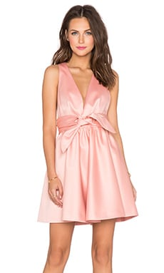 RACHEL ZOE Beck Tie Waist Dress in Rose