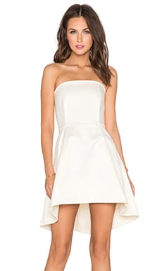 RACHEL ZOE Dune Strapless Dress in Ivory