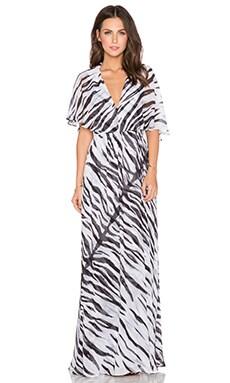 RACHEL ZOE Eugine Ruffle Top Maxi Dress in Pure White