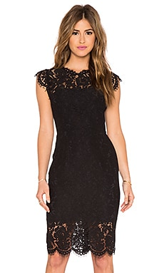 Suzette Lace Mini Dress en Noir