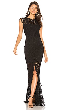 RACHEL ZOE Estelle Cut Out Back Maxi Dress in Black