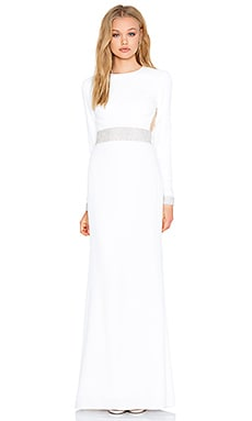 RACHEL ZOE Hewitt Back Cutout Maxi Dress in White