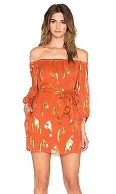 Мини-платье с открытыми плечами frankie - RACHEL ZOE