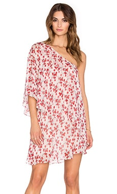 RACHEL ZOE Carmen One Shoulder Mini Dress in Day Orchid