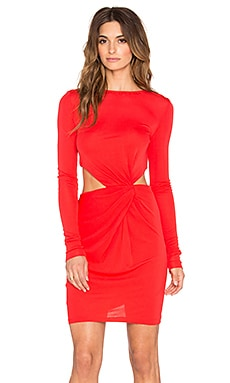 RACHEL ZOE Shay Drape Mini Dress in Red