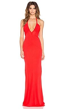 RACHEL ZOE Mardi Drape Gown in Red