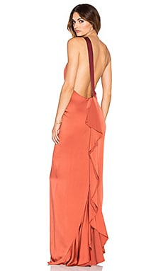 Sandy One Shoulder Gown in Cinnamon