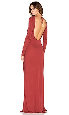 RACHEL ZOE Fannie Drape Gown in Brick