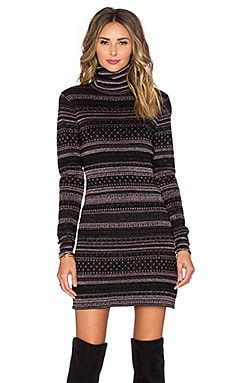 RACHEL ZOE Bonnie Open Back Dress in Black Multi