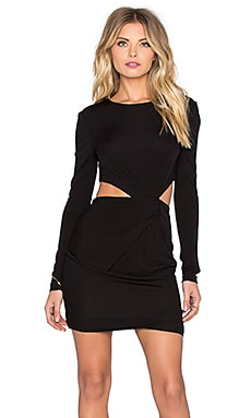 Shay Drape Mini Dress in Black