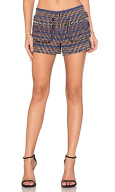 RACHEL ZOE Finch Patch Pocket Short in Multi