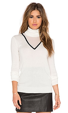 RACHEL ZOE Carsyn Sweater in White