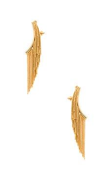 RACHEL ZOE Remy Fringe Ear Climber in Gold