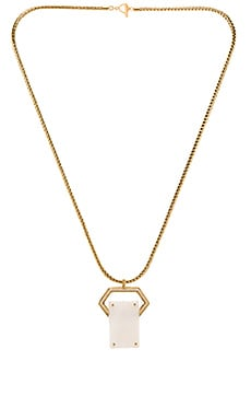RACHEL ZOE Jona Jewel Pendant Necklace in Gold & White