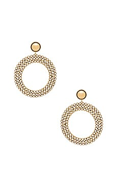 Pearl Hoop Earrings in Gold