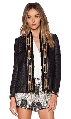 RACHEL ZOE Clarissa Grommet Jacket in Black