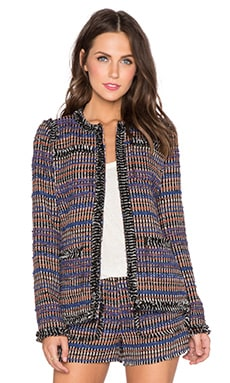 RACHEL ZOE Henri Fringe Jacket in Multi