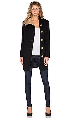 RACHEL ZOE Vince Coat in Black & Camel