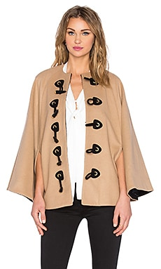 RACHEL ZOE Ammon Cape in Camel & Black