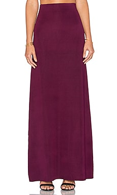 Ruth Maxi Skirt in Plum