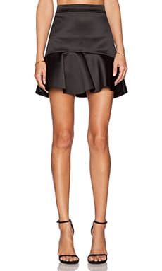 RACHEL ZOE Luelle Flare Skirt in Black