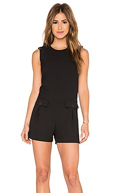 RACHEL ZOE Grayce Romper in Black