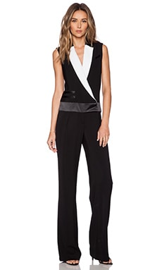 RACHEL ZOE Vitalia Lapel Jumpsuit in Black