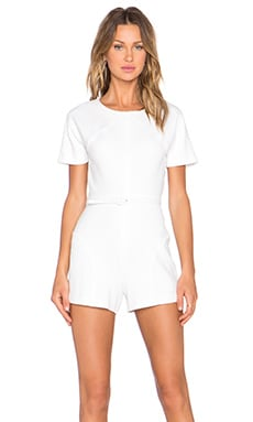 RACHEL ZOE Delaney Romper in Pure White