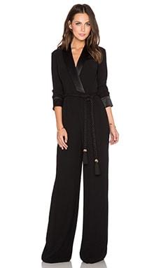 RACHEL ZOE Hardy Tux Jumpsuit in Black