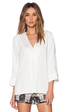 Lane V Neck Top in White