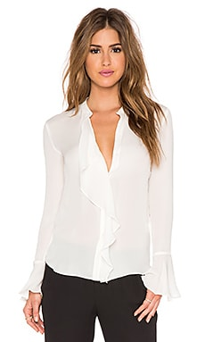 RACHEL ZOE Monica Blouse in White