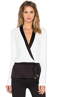 RACHEL ZOE Alex Top in White & Black