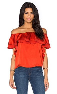 RACHEL ZOE Gaia Top in Spice