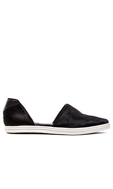 RACHEL ZOE Camden Calf Hair Flat in Black