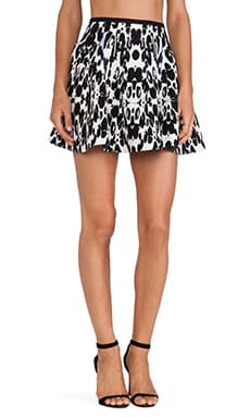 Sachin + Babi Edge Skirt in Abstract Animal Print