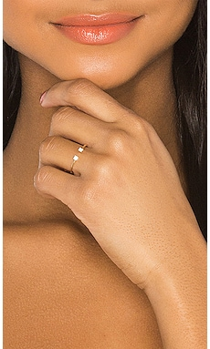 Pronged Diamond Cuff Ring Sachi $385