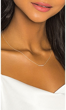 Diamond Mini Bar Necklace Sachi $304