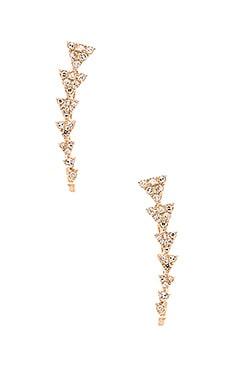 Sachi Diamond Triangle Train Ear Cuff in Gold