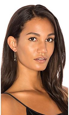 x REVOLVE Pave Star Threader Earrings