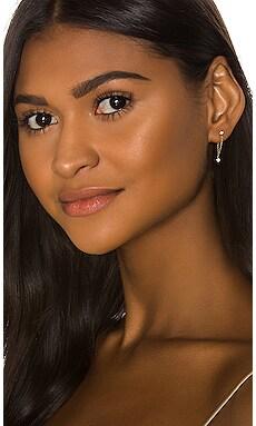 Bezel Dangle Chain Loop Earrings Sachi $484 BEST SELLER