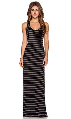 Saint Grace Tank Maxi Dress in Black & White