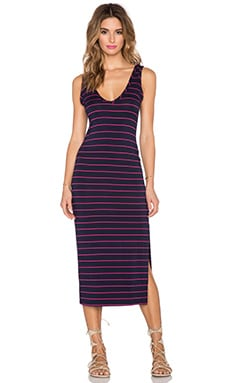 Saint Grace Melina Midi dress in Admiral & Fuchsia