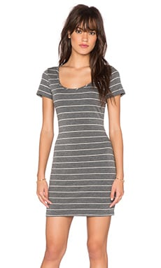 Saint Grace Clover Mini Dress in Charcoal & Cream