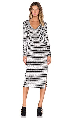 Saint Grace Mica Stripe Voyage Dress in Black
