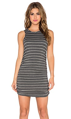 Saint Grace Holy Muscle Tank Dress in Charcoal & Cream