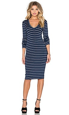 Saint Grace Long Sleeve V Neck Dress in Liberty & White